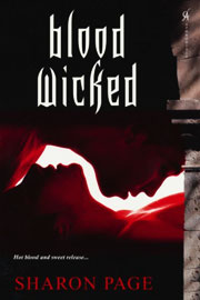 Blood Wicked Book Cover, written by Sharon Page