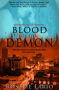 Blood of the Demon Book Cover, written by Rosalie Lario